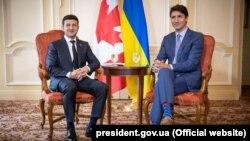 Президент України Володимир Зеленський (ліворуч) і прем'єр-міністр Канади Джастін Трюдо, Торонто, Канада, 2 липня 2019 року