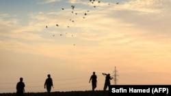 Район Іранського Курдистану неодноразово ставав місцем сутичок між іранськими урядовими силовиками. На фото: військові навчання іранських курдів, жовтень 2017 року