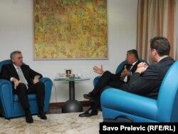 Milođ Đukanović, Tomislav Nikolić i Aleksandar Vučić