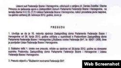 Odluka Ustavnog suda FBiH