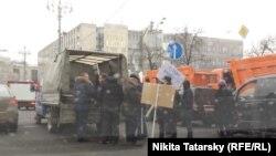 Підготовка у Москві до ходи на підтримку воєнних дій Росії в Україні, 2 березня 2014