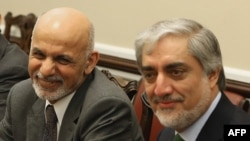 While Chief Executive Officer Abdullah Abdullah (right) is said to not be against engagement with Pakistan, he reportedly expected President Ashraf Ghani (left) to consult him before moving forward.