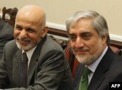 Ашраф Гани и Абдулла Абдулла – бывшие соперники на выборах, теперь, по крайней мере с виду, – старые друзья