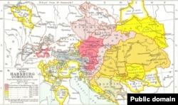 Карта исторических владений Габсбургов в Европе