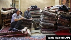 A carpet shop in Tehran's old, main bazaar, Iran. File photo
