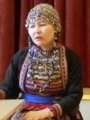 """Василий Николаев, основатель сайта """"MariUver"""" и Анна Мишина, марийская активистка из Эстонии"""