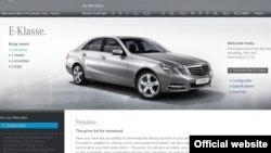 Mercedes-Benz-in saytından görtüntü