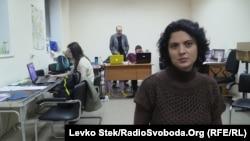 Світлана Сова у своєму виборчому штабі