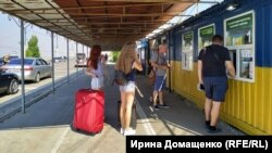 Админграница между Крымом и Херсонщиной, пункт пропуска «Каланчак» (архивное фото)