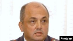 Armenia -- Major-General Nerses Nazarian, chief of the Yerevan police, holds a news conference on October 2, 2009.
