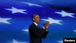 """Biziň teklip edýän ýolumyzyň kynrak bolmagy mümkin. Ýöne ol gowy ýere alyp barýar"" diýip, Obama aýtdy. 6-njy sentýabr, 2012."