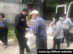 Раздача продуктовых пакетов / Мэрия г. Бишкек