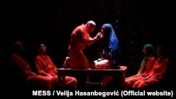 """Frljićeva predstava """"Naše nasilje i vaše nasilje"""" na Internacionalnom teatarskom festivalu MESS u Sarajevu, 2016."""