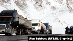 Бишкек-Ош автожолу.