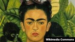 Фрида Кало. Мойнуна шурудай тикенек тагылган автопортрет. 1940-жыл.