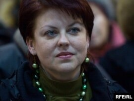 Photo: Anzhelika Borys, Chairwoman of the ZPB, elected in 2005. [Source: RFE/RL]
