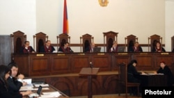Armenia -- The Constitutional Court holds a hearing on an appeal from human rights ombudsman Karen Andreasian, 15Nov2011.