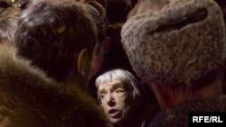 Людмила Алексеева на Триумфальной площади 31 января 2010 u
