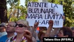 Protest la Chişinău.