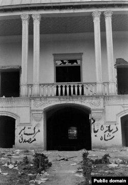 خانه مصدق پس از حمله مخالفانش
