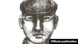 Фоторобот предполагаемого участника похищения.