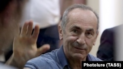 Former Armenian President Robert Kocharian at a court hearing in Yerevan in September.
