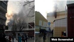 Пожар в торговом центре в Кемерове (фото из соцсетей)