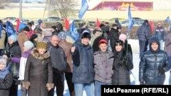 """Члены профсоюза """"МОЛОТ"""" на митинге протеста в Тольятти"""