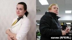Сьвятлана Ціханоўская і Лідзія Ярмошына