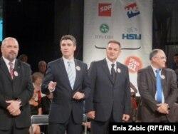 Lideri 'Kukuriku koalicije', rujan 2011.