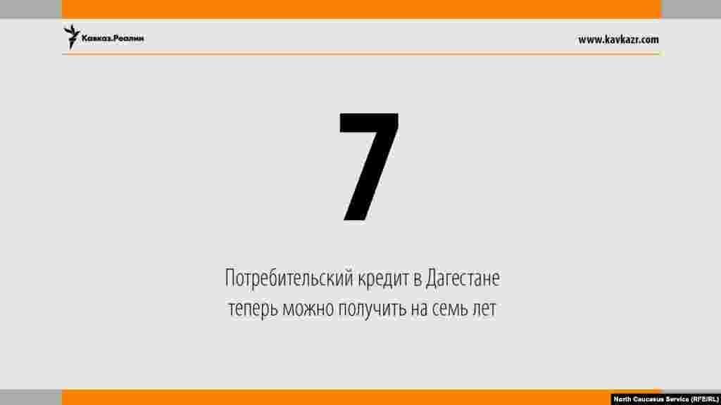 15.08.2017 //Потребительский кредит в Дагестане теперь можно получить на семь лет