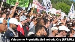 Участники акции протеста против фильма «Невинность мусульман». Симферополь, 27 сентября 2012 года.