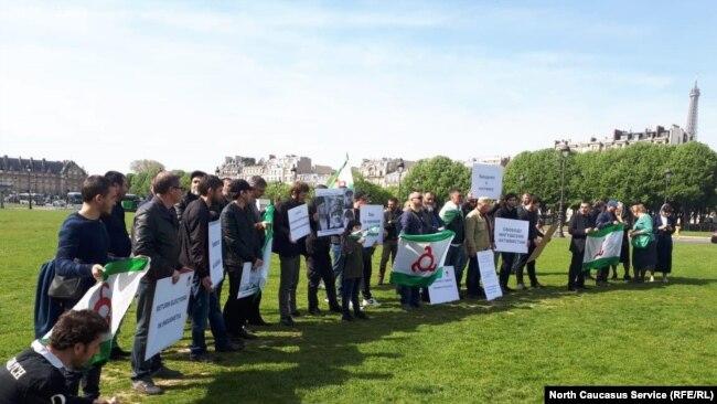 Митинг ингушей в Париже