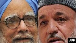Индиянын премьер-министри Манмохан Синх жана Ооган президенти Хамид Карзай