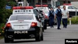 Ճապոնիա - Ոստիկանները դեպքի վայրում, Սագամիհարա, 26-ը հուլիսի, 2016թ․