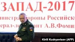 Олександр Фомін на прес-конференції в Міністерстві оборони в Москві, 29 серпня 2017 року