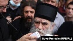 Mitropolit Srpske pravoslavne crkve (SPC) u Crnoj Gori Amfilohije, 15. maj 2020.