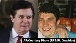 According to the report, Paul Manafort (left) continued working with Konstantin Kilimnik even after the election.