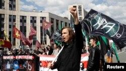 Під час мітингу в Москві, 13 травня 2018 року