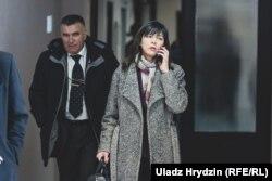 Архіўнае фота. Ірына Акуловіч падчас паседжаньня суду па «справе БелТА», 12 лютага 2019 году