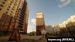Строительство микрорайона «Жигулина роща» в Симферополе, март 2019 года