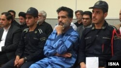 The killer of a Friday Prayer Imam in Iran during his single-session trial on July 3, 2019.