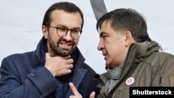 Михеил Саакашвили (п) и Сергей Лещенко