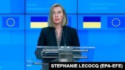 Верховний представник ЄС із закордонних справ Федеріка Моґеріні. Брюссель, 17 грудня 2018