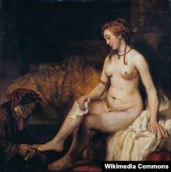 «Вирсавияны киринтүү», 1654-жыл. Рембрандт.