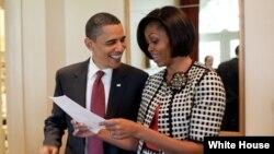 Prezident Barak Obama xanımı Michele ilə