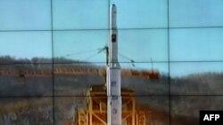 Ракета-носитель Унга-3 на стартовой позиции