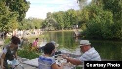 В парке Горького в Москве
