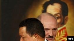 Venezuelan President Hugo Chavez and Belarusian President Alyaksandr Lukashenka met in Caracas this week.