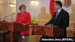 Angela Merkel şi Vlad Filat . Chişinău, 22 august 2012.